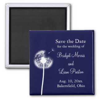 Navy Best Wishes! Save the Date Fridge Magnet