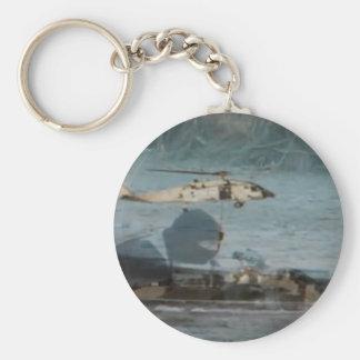 Navy Blackhawk Operations Keychain