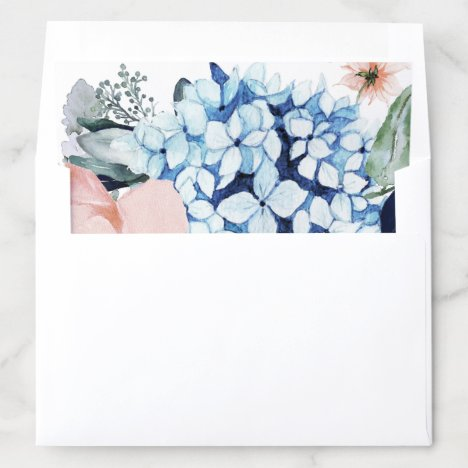 Navy Blooms Envelope Liner