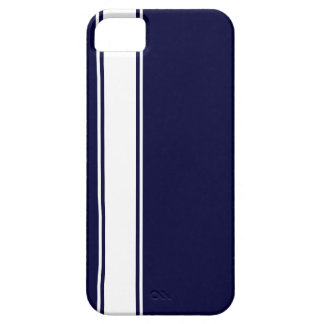 Navy Blu & White Team Jersey Stripe iPhone 5s Case