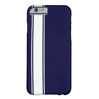 Navy Blu & White Team Jersey Stripe iPhone 6 Case