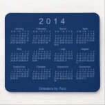 Navy Blue 2014 Calendar Mouse Pad Mouse Pad