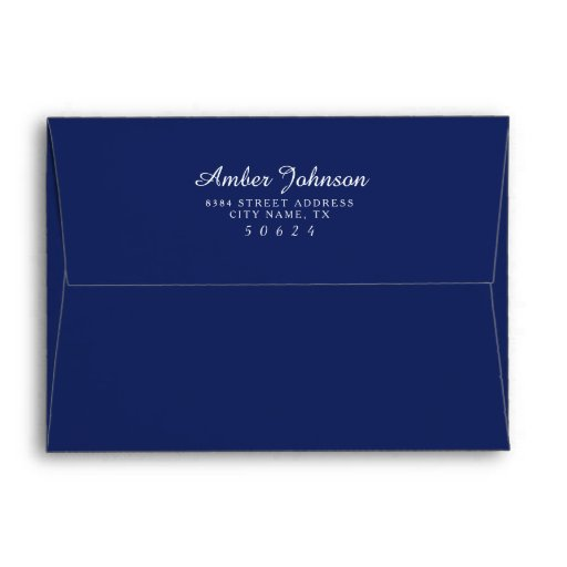 Navy Blue 5 x 7 Pre-Addressed Envelopes