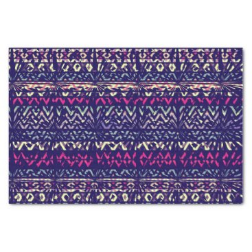 Aztec Themed Navy Blue Abstract Aztec Tribal Pattern Tissue Paper