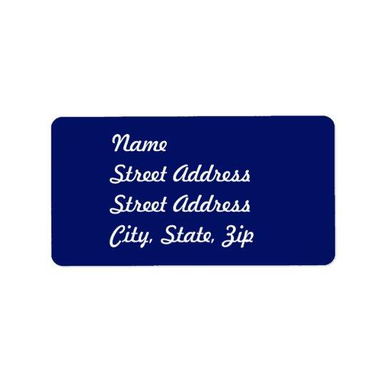 Navy Blue Address Sticker