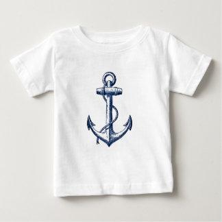 Navy Blue Anchor Baby T-Shirt