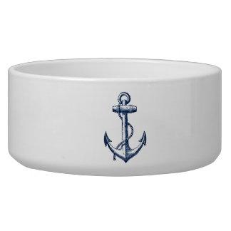 Navy Blue Anchor Bowl