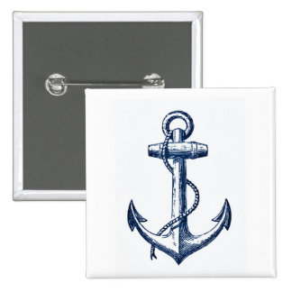 Navy Blue Anchor Button