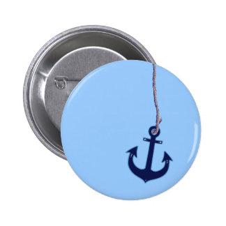 navy blue anchor 2 inch round button