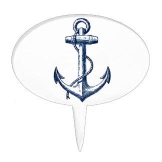 Navy Blue Anchor Cake Topper