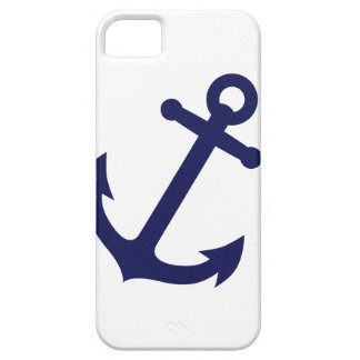 Navy Blue Anchor iPhone 5 Cover