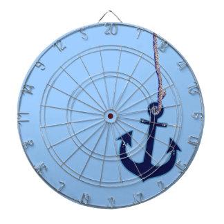navy blue anchor dartboard with darts