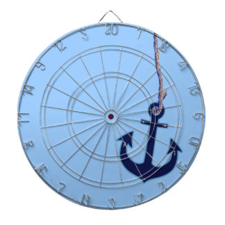 navy blue anchor dartboard with darts