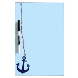 navy blue anchor Dry-Erase board