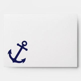 Navy Blue Anchor Envelope