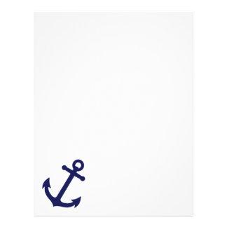 Navy Blue Anchor Letterhead