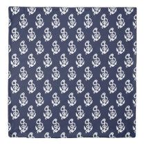 Navy Blue Anchor Nautical Duvet Cover