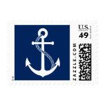 Navy Blue Anchor Nautical Wedding Postage