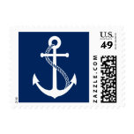 Navy Blue Anchor Nautical Wedding Postage