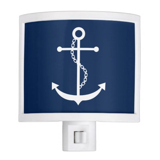 Navy Blue Anchor Night Light