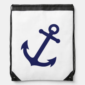Navy Blue Anchor Backpack