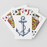 """Navy Blue Anchor Playing Cards<br><div class=""""desc"""">This anchor is perfect for any nautical theme lover!</div>"""