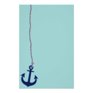 navy blue anchor stationery