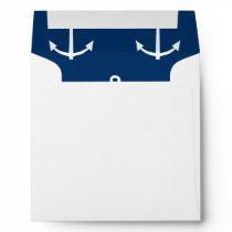 Navy Blue Anchors Pattern 1 Envelope