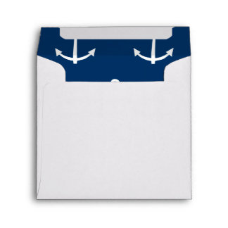 Navy Blue Anchors Pattern 1 Envelope