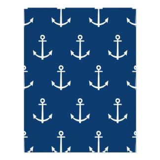 Navy Blue Anchors Pattern 1 Flyer