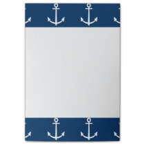 Navy Blue Anchors Pattern 1 Post-it Notes