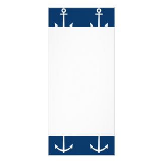 Navy Blue Anchors Pattern 1 Custom Rack Cards