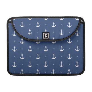Navy Blue Anchors Sleeve For MacBook Pro