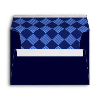 Navy Blue and Argyle Pattern Envelope