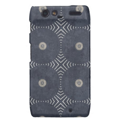 Navy Blue and Beige Circle Pattern Motorola Droid RAZR Covers