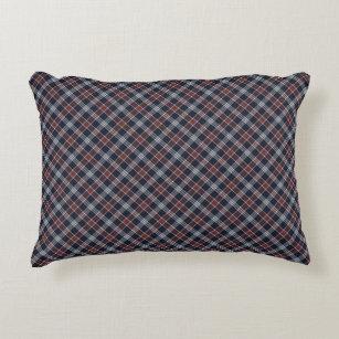 Burgundy Plaid Decorative Throw Pillows Zazzle