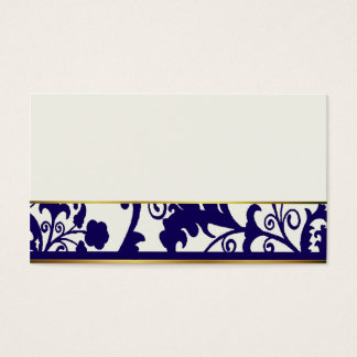 Navy Blue and Cream place cards