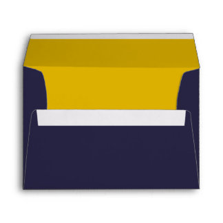 Navy Blue and Gold A7 Envelopes