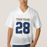 Navy Blue and Gold Football Sports Team Jersey