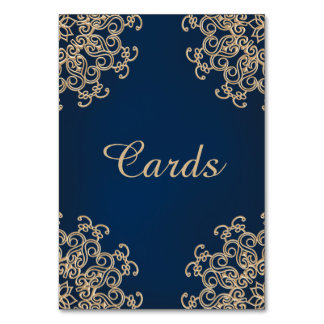 Navy Blue and Gold Indian Style Card