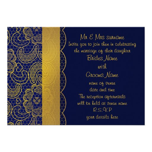 Blue And Gold Wedding Invitations correctly perfect ideas for your invitation layout