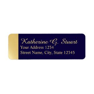 Navy Blue and Gold Modern Elegant Label