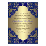 "Navy blue and Gold Wedding Invitation 5"" X 7"" Invitation Card"