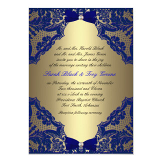Navy And Gold Wedding Invitations & Announcements | Zazzle