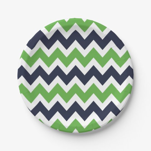 Navy Blue And Green Chevron 7 Inch Paper Plate Zazzle  sc 1 st  Castrophotos & Blue And Green Paper Plates - Castrophotos