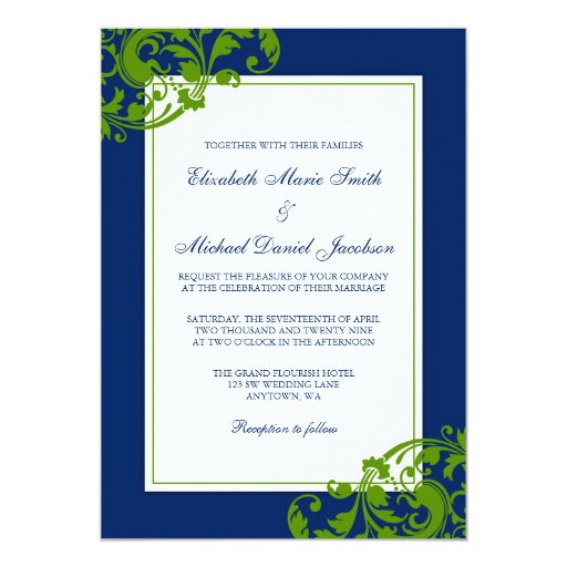 900+ Navy And Green Wedding Invitations, Navy And Green