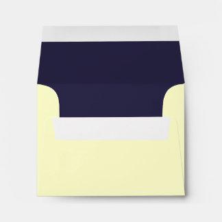Navy Blue and Ivory or Bone White A2 Envelopes