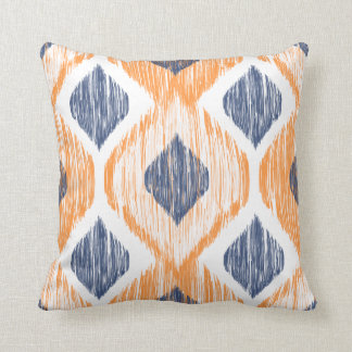 Decorative Pillows Orange And Blue : Navy Blue And Orange Pillows - Decorative & Throw Pillows Zazzle