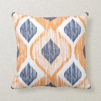 Decorative Pillows Orange And Blue : Navy Blue And Orange Pillows - Decorative & Throw Pillows Zazzle