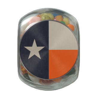 Navy Blue and Orange Texas Flag Jelly Belly Candy Jar